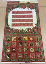 Paintbrush Studio - Christmas Memories Advent Panel By Judy Hansen - 100% Cotton