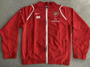 ARSENAL FC NIKE AFC 2006/2007 WOVEN SUIT JACKET MENS LARGE
