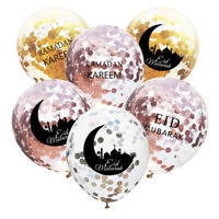 10pcs 12inchs Eid Mubarak Confetti Ballons Musulman Maison Fête Decoration