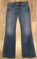 Seven 7 For All Mankind Boot Cut Jeans Women's Med Wash Denim Size 30