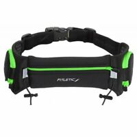 Fitletic Quench Retractable Hydration Belt - Black/Green - Large/X-Large