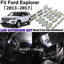 6x White LED Interior Lights Package Kit For 2013- 2015 2016 2017 Ford Explorer