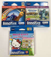 NEW Innotab Educational Video 3 Game Lot Monsters University Turbo Hello Kitty