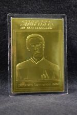 STAR TREK 22kt Gold Danbury Mint Card - LIEUTENANT COMMANDER DATA - TNG