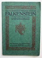 1923 Bayerischer Wald Illustrierter Führer durch Falkenstein im Bayerischen Wald