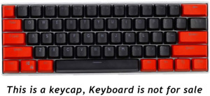 Sunzit Keycaps, 61 Keycaps PBT Keycaps Backlight Two-Color Mechanical Keyboard /