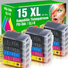 15 Patronen für Canon Pixma IP4200 IP5200 IP4500 IP4300 MP520 MP610 MIT CHIP