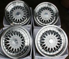 "8.5+10 X 17"" SILVER RS SS ALLOY WHEELS FOR BMW 6 SERIES E24 E63 E64 + TYRES"