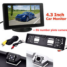 4.3 inch LCD Monitor Car Rear View Parking Camera with EU License Plate Frame