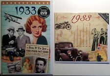 85th BIRTHDAY GIFT SET- 1933 DVD , CD and  Year Greeting Card