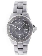 Chanel J12 Chronomatic 38mm Ladies Automatic Grey Titanium Bracelet Watch H2979
