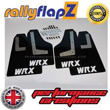 rallyflapZ SUBARU IMPREZA Hatchback (08-14) Mud Flaps Black WRX White 4mm PVC