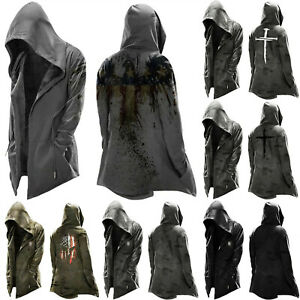 Assassin's Creed Men's Pullover Jacket Cosplay Coat Drawstring Hoodie Blouse Top