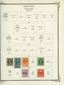 COSTA RICA Scott Specialty Album Page Lot #40 - SEE SCAN - $$$