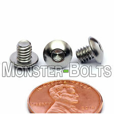 "#8-32 x 3/16"" - Qty 10 - Stainless Steel BUTTON HEAD Socket Cap Screws 18-8 / A2"