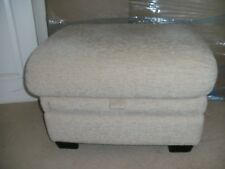 "LIFESTYLE STORAGE FOOTSTOOL IN"" KAVITA OYSTER? FABRIC FROM  P----- K----"