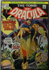 Tomb of Dracula #14 - 8.0 - Appearance of Blade the Vampire Slayer - 1973