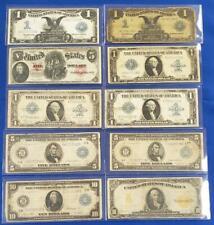 New Listing10-Pc Lot Us Large Notes 1907 $5 Usn/1907$10 Au/2-1899 $1 Sc/1914-$10/2-$5 L8126