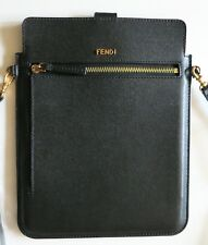 FENDI LEATHER CROSS BODY HANDBAG, ORIG $790, NEVER WORN GREAT FOR IPAD OR TABLET