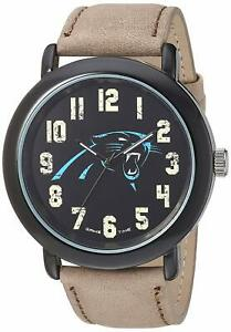 Carolina Panthers NFL Game Time Wrist Watch Mens Leather Strap RRP £50