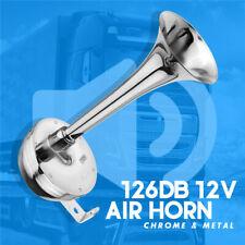 Chrome Electric Air Horn Truck Loud 12V Train Car Kit Car/Truck/Bus/Van 126DB