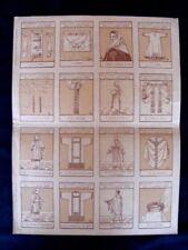 Rare planche de 16 bons points liturgiques Edition Charles Beyaert Bruges 1922