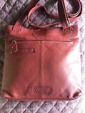Cenzoni Cross Body Bag Burgundy 100% Genuine Leather RFID Protected