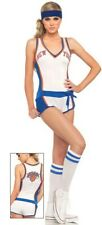 Sexy Ladies New York NY Nicks  Basketball Costume Fancy Dress Hen Party Cosplay