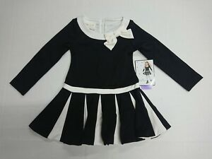 Brand New with Tag Biscotti Girls Black & Ivory Dress Special Occasion Christmas