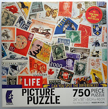 jigsaw puzzle 750 pc Life Picture Puzzle Special Delivery Postage Stamps