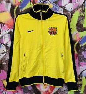 Barcelona Barca Football Soccer Full Zip Jacket Longsleeve Jersey Nike Mens S