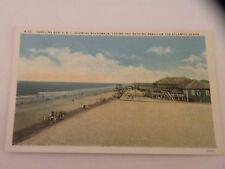VINTAGE POSTCARD CAROLINA BEACH NC showing boardwalk Casino Beach linen
