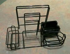 Lot of 12 Restaurant Condiment Caddy Caddies Metal Wire Basket Holders