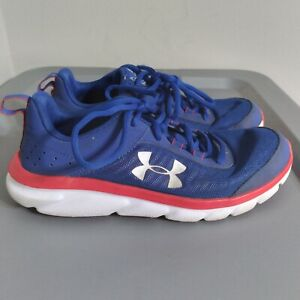 Under Armour Assert 8 Youth Kids Size 6Y Shoes Blue/White Athletic Low Sneakers