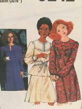 Simplicity Sewing Pattern 8242 Ladies Misses Dress Top Skirt Size 12 Uncut