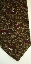 "GAP Men's Silk Floral Neck Tie Brown Olive Green Classic 3 1/2"" x 58"""