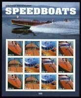 4163a, Mint Sheet of 12 Speedboats 41¢ Stamps - Stuart Katz