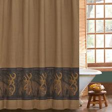 "Browning Oak Tree Buckmark Fabric Shower Curtain 72"" x 72"" Deer Hunt Camo Rustic"