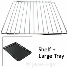 WHIRLPOOL Adjustable Chrome Oven Cooker Grill Shelf & Large Enamel Baking Tray