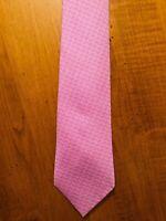 HERMES Paris Necktie 100% Silk, 5291 TA H-Pattern, Lavender/Purple