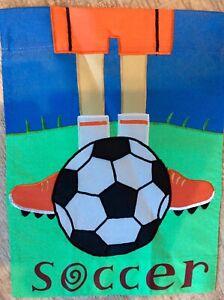 """SOCCER LEGS  Garden Flag(11.""""X 15"""""""