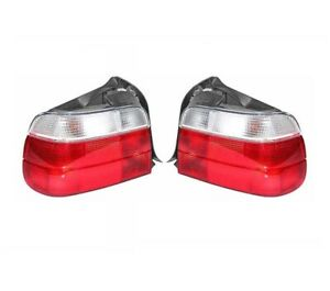 Left & Right Marelli Tail Brake Lights w/ White Turn Signal Pair Set For BMW E36