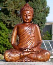 Super schöner BUDDHA Meditation Thailand HOLZ BUDDA Feng Shui BMTHAI30