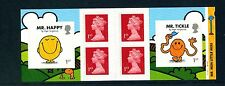 MR MEN LITTLE MISS  -  cylinder W1W1W1...booklet of 4 x 1st+2 Special NVI stamps