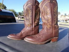 Used Justin Dark Brown Western Cowboy Boots  Sz 9  D  Style 1472