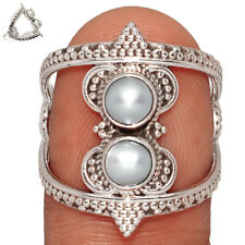 Fresh Water Pearl 925 Sterling Silver Ring Jewelry s.7.5 BR8371 220C