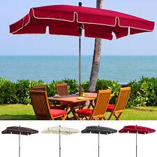 More details for sun umbrella parasol patio garden rectangular aluminium 2 colours 2x1.25m