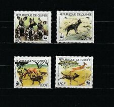 Guinée république  faune animaux chien sauvage  1987  num : 849/52 **