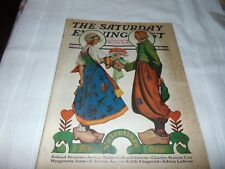 Dutch Couple Valentine Saturday Evening Post Cover Color Ads  February 9, 1929