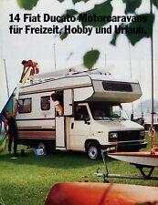 Prospectus FIAT DUCATO MOTEUR Caravane 7/84 autoprospekt camping-car Voyage mobile 1984